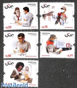 500 years postal service 5v