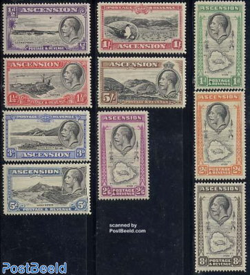 Definitives George V, views 10v