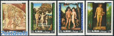 Adam and Eve paintings 4v