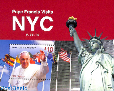 Pope's visit to New York s/s