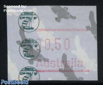 Automat stamp, CUPEX 1v (face value may vary)