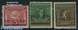Olympic Games overprints 3v
