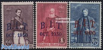 BIT overprints 3v (Bureau Internationale Travaux)
