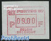 Automat stamp, Portus 87 Gand 1v