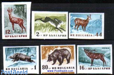 Forest animals 6v imperforated