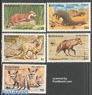 WWF, endangered animals 5v
