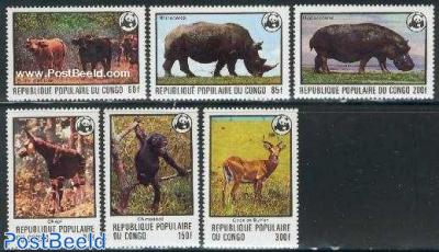 WWF, animals 6v