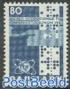 ITU centenary 1v, normal paper