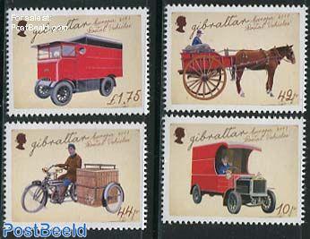 Europa, postal transport 4v