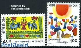Greeting stamps 2v