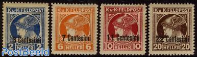 Kuk post, Newspaper stamps 4v