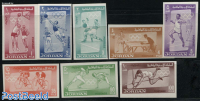 Olympic games 8v, imperforated