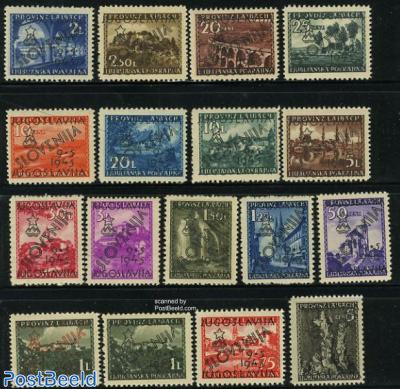 Overprints on Laibach stamps 17v