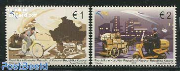 Europa, postal transport 2v