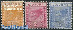 Sungei Ujong, Definitives 3v