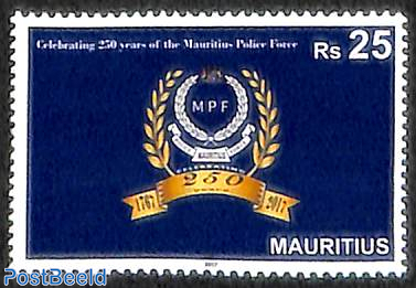 250 years Mauritius Police Force 1v
