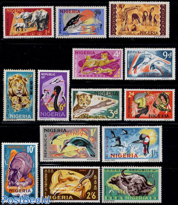 Definitives, animals 14v