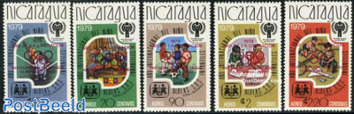 Olympic games, red overprints 5v