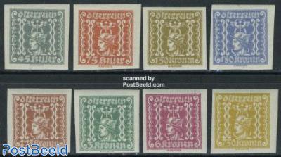 Newspaper stamps 8v, imperforated