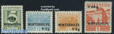Winter aid, overprints 4v