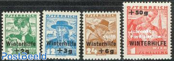 Winter aid 4v overprints