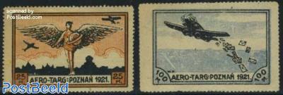 Aviation stamps 2v