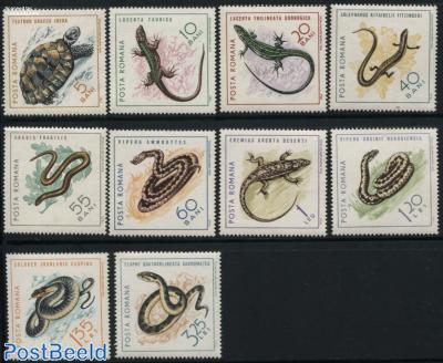 Reptiles 10v