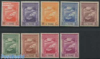 Airmail definitives 9v
