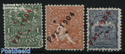 PAZ 1904 overprints 3v