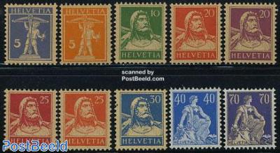 Definitives 10v